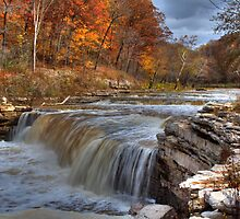 Lower Cataract Falls - Autumn by Jeff VanDyke