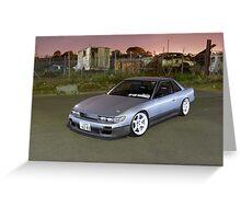 Silver Nissan S13 Silvia Greeting Card