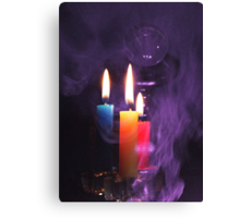 Crystal Ball and Candlelight Canvas Print