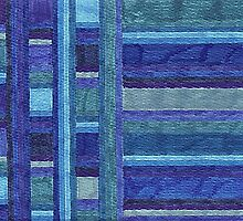 Abstract Art Study - Blue Stripes by Oldetimemercan