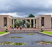 Memorial, American Military Cemetery, Omaha Beach, France by Pat Herlihy