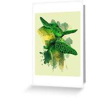 Gliding the Green Greeting Card