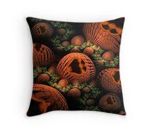 The Happy Halloween Pumpkin Patch Throw Pillow