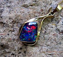 Black Opal Pendant by Vanessa Barklay