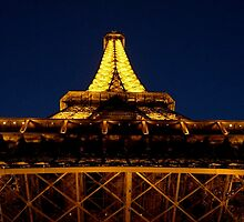 Eiffel Tower at night by Christian Langenegger