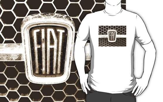 Fiat 128 Honeycomb Grill - shirt by melodyart