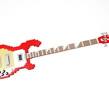 "Lego ""R-style"" Bass Guitar by geekmorris"