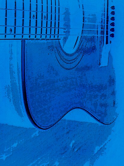 blu guitar by Loreto Bautista Jr.