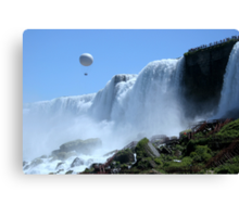 Balloon Ride Over Bridal Veil Falls Canvas Print