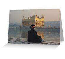 At Peace At The Golden Temple, Amritsar, Punjab, India Greeting Card