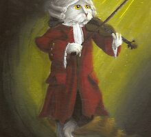 Wolfgang Amadeus Mozart - Cat Composer Violinist by TaraFlyPhotos
