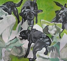 Collaboration, Working Dog -Artist by Sue Gould