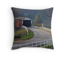 Jackson's Saw Mill Covered Bridge Throw Pillow