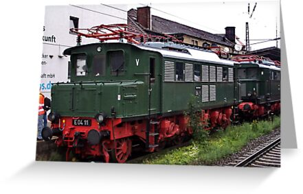 The railroad engine of the class E 04 by trainmaniac
