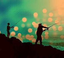 Dusk Fishing by Lynne Haselden