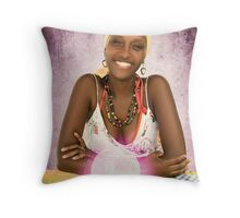 Belizean Fortune Teller Throw Pillow