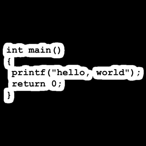 Hello World C by novelnetwear