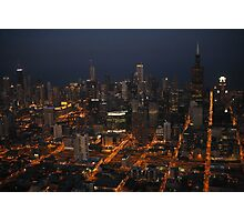 Downtown Chicago - Aerial Photography Photographic Print