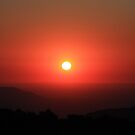 Fire Sunset - Mt. Donna Buang by Jacqueline  Murphy
