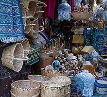 Mid Blue Basket - Sfax Souk by MuhammadAtif