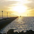 pier at sunset by aspenrock