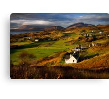 Tarskavaig in November. Isle of Skye. Scotland. Canvas Print
