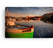 Kyleakin Harbour in Evening Light. Loch Alsh, Isle of Skye, Scotland. Canvas Print