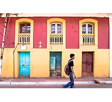 Yellow and Blue - Colored Wall Photographic Print