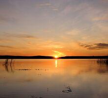 Sunrise Over Orman Dam by WILDBRIMOWILDMAN