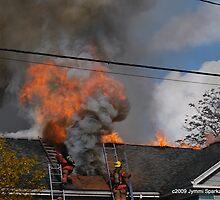 Fire at Marysville Elementary School by JymmiSparkz