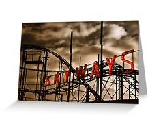 Skyways Coaster Greeting Card