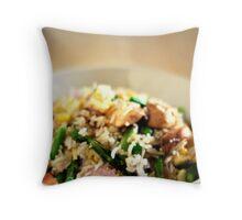 Asparagus Fried Rice Throw Pillow