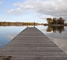 A Dock on Green Bay by Barb White