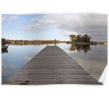 A Dock on Green Bay Poster
