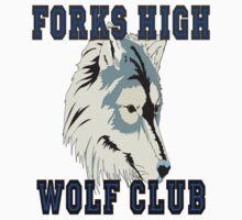 Forks High Wolf Club Twilight Werewolf by gleekgirl