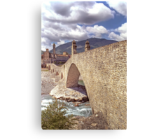 Hunchback Bridge - Bobbio - Italy Canvas Print