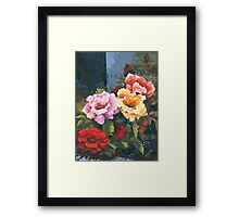 Roses - Just Stop and Smell their Perfume... Framed Print