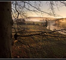 Misty morning views towards Pendle Hill by Shaun Whiteman