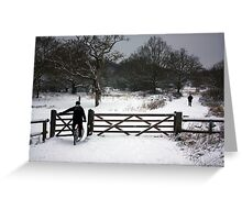 into god's canvas Greeting Card