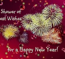 A Shower of Best Wishes for a Happy New Year by Vickie Emms