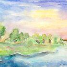 By the Riverbank by Caroline  Lembke