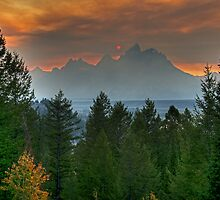 Teton Sunset by Gary Lengyel