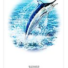 BLUE MARLIN POSTER 2 by owen bell
