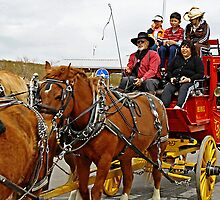 All Aboard For a Stagecoach Ride by David DeWitt