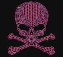 Pink Rhinestone Skull & Crossbones by littlegems
