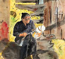 Spinning Wool by Joyce Ann Burton-Sousa