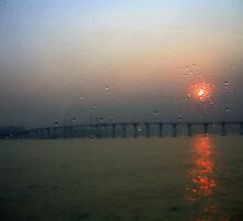 On a Rainy Winter's Day - Macau bridge by mklau