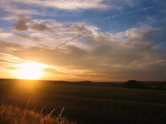 Silbury Sunset - Silbury Hill, Wiltshire #2 by J J  Everson