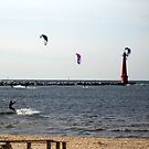 Kite Surfers by BarbL