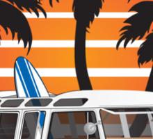 VW Split Window Bus w Palmes Sticker